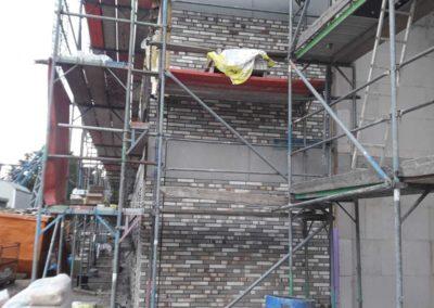 Verblendarbeiten einer Tageseinrichtung in Emmerich ca 400 m2. Frank Dickmann Klinkerbau